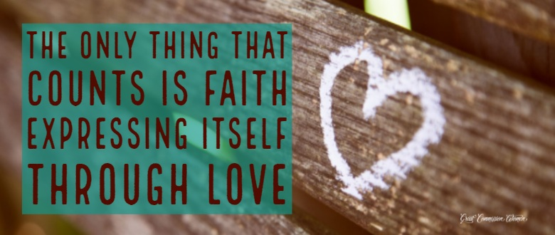 "As we walk through 2018, may Jesus be able to say of each of us, ""She loved much."" Have faith. Show love. Scripture teaches usthe only thing that counts is faith expressing itself through love. [Galatians 5:6b]"